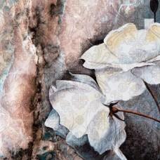 Autocolant de perete cu flori colorate, pictate cu acuarele - 13528